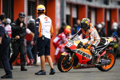"Pedrosa: ""I was completely sideways and had no control"""