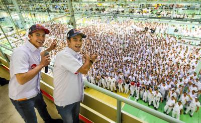 Marquez and Pedrosa visit Astra Honda Factory Indonesia