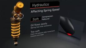 Springs and hydraulics in harmony with the rear tyre