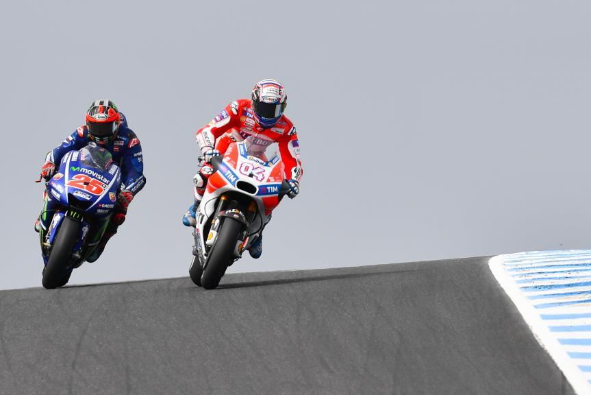 Andrea Dovizioso, Ducati Team, Maverick Viñales, Movistar Yamaha MotoGP, Michelin® Australian Motorcycle Grand Prix