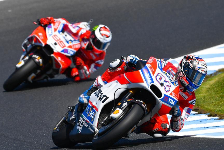 Andrea Dovizioso, Jorge Lorenzo, Ducati Team, Michelin® Australian Motorcycle Grand Prix