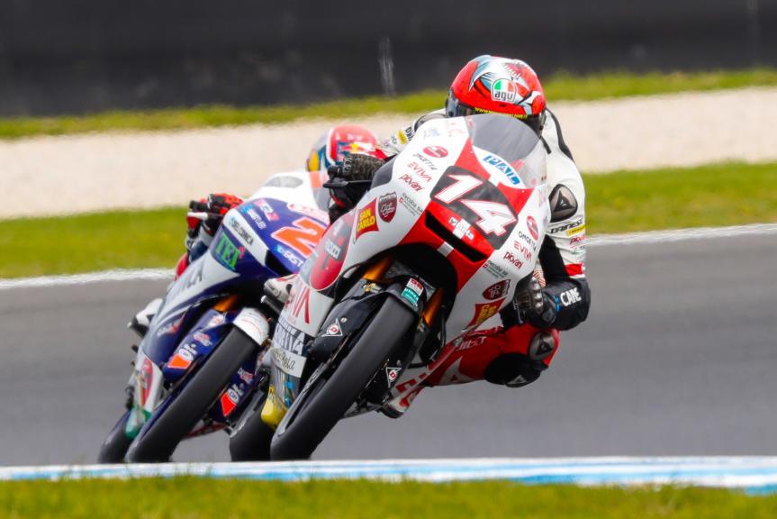 Tony Arbolino, SIC58 Squadra Corse, Fabio Di Giannantonio, Del Conca Gresini Moto3, Michelin® Australian Motorcycle Grand Prix