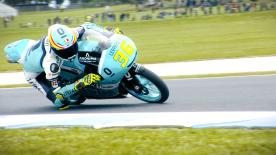 The Moto3™ World Championship leader was quickest on Friday, ahead of Aron Canet and Bo Bendsneyder