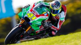 The Aprilia Racing Team Gresini rider was quickest, ahead of Marquez and Dovizioso as 16 riders were separated by less than one second