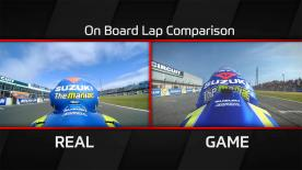 Watch to see real-time premier class racing and MotoGP™17 gameplay compared. Team Suzuki Ecstar and Andrea Iannone are in Phillip Island.