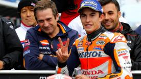 Marc Marquez took his 72nd career pole position with Maverick Viñales and Johann Zarco alongside. Dovizioso meanwhile was only 11th