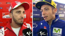 The  MotoGP™ riders give us feedback at the #AustralianGP.