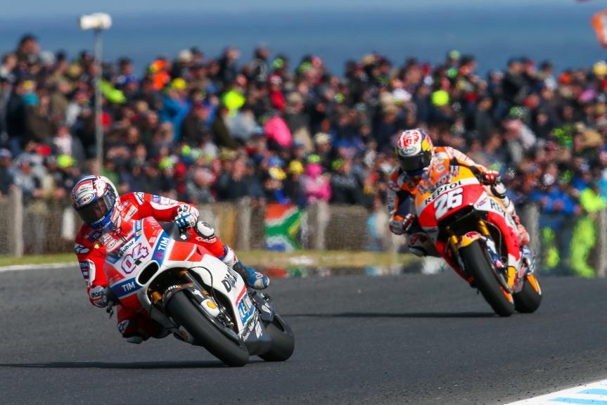 Andrea Dovizioso, Ducati Team, Dani Pedrosa, Repsol Honda Team, Michelin® Australian Motorcycle Grand Prix