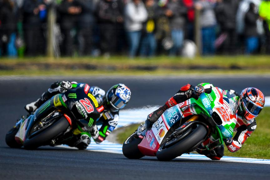 Sam Lowes, Aprilia Racing Team Gresini, Brock Parkes, Monster Yamaha Tech 3, Michelin® Australian Motorcycle Grand Prix