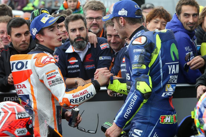 Marc Marquez, Repsol Honda Team, Valentino Rossi, Movistar Yamaha MotoGP, Michelin® Australian Motorcycle Grand Prix