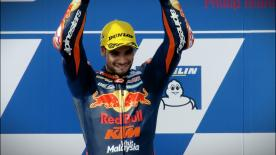 Miguel Oliveira dominated the Moto2™ race in Australia, with Brad Binder completing a KTM 1-2 as Morbidelli rounded out the podium