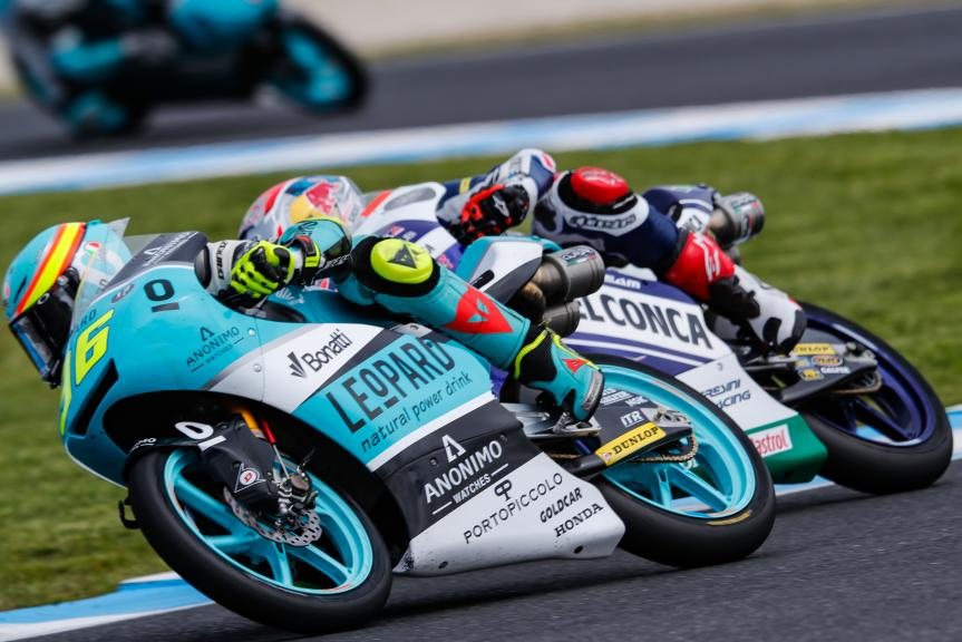 Joan Mir, Leopard Racing, Fabio Di Giannantonio, Del Conca Gresini Moto3, Michelin® Australian Motorcycle Grand Prix