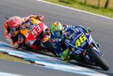 Valentino Rossi, Movistar Yamaha MotoGP, Marc Marquez, Repsol Honda Team, Michelin® Australian Motorcycle Grand Prix
