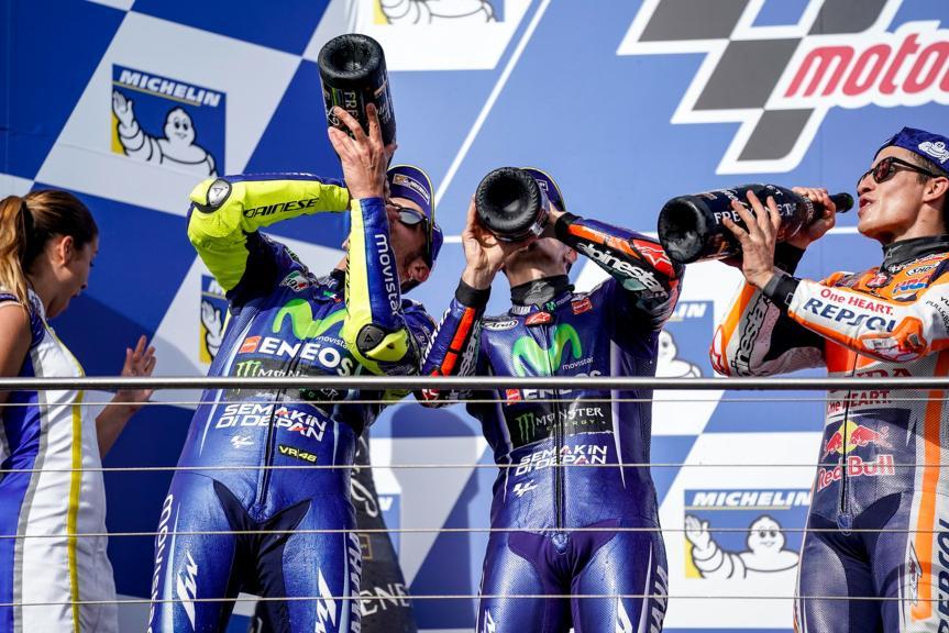 Marc Marquez, Valentino Rossi, Maverick Viñales, Michelin® Australian Motorcycle Grand Prix