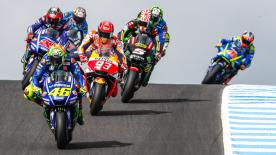 Valentino Rossi talks about the aggression from young riders in MotoGP™