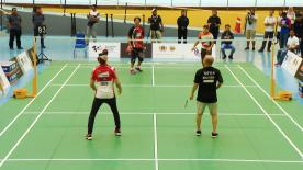 Ahead of the #MalaysianGP, Marc Marquez and Jorge Lorenzo had the opportunity to play badminton with some olympic stars