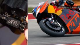 The importance of the remote brake adjuster in a race