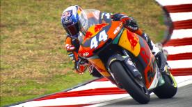 Red Bull KTM Ajo's Miguel Oliveira was quickest in Free Practice, ahead of title rivals Franco Morbidelli and Tom Lüthi
