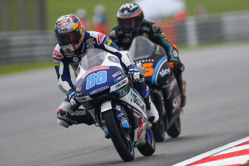Jorge Martin, Del Conca Gresini Moto3, Andrea Migno, Sky Racing Team VR46, Shell Malaysia Motorcycle Grand Prix