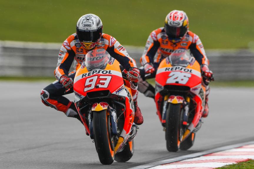 Marc Marquez, Dani Pedrosa, Repsol Honda Team, Shell Malaysia Motorcycle Grand Prix