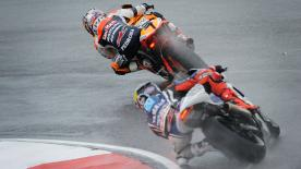 In a dramatic race hit by torrential rain and a raft of crashes at the Malaysian Motorcycle Grand Prix in Sepang it was Repsol Honda Team's Dani Pedrosa who put in a wet-weather master class to take the win ahead of Jorge Lorenzo and Casey Stoner.