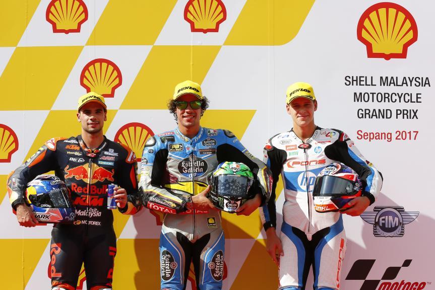 Franco Morbidelli, Miguel Oliveira, Fabio Quartararo, Shell Malaysia Motorcycle Grand Prix