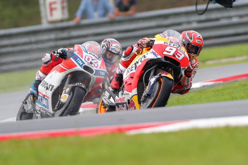 Marc Marquez, Andrea Dovizioso, Shell Malaysia Motorcycle Grand Prix