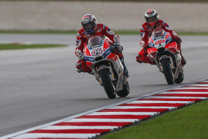 Andrea Dovizioso, Jorge Lorenzo, Ducati Team, Shell Malaysia Motorcycle Grand Prix