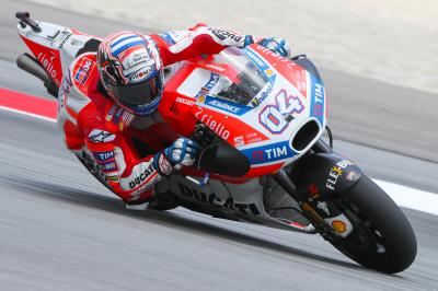 Dovizioso top in Warm Up, Marquez eighth