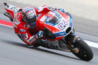 Dovizioso im MotoGP™ Warm-Up vorn