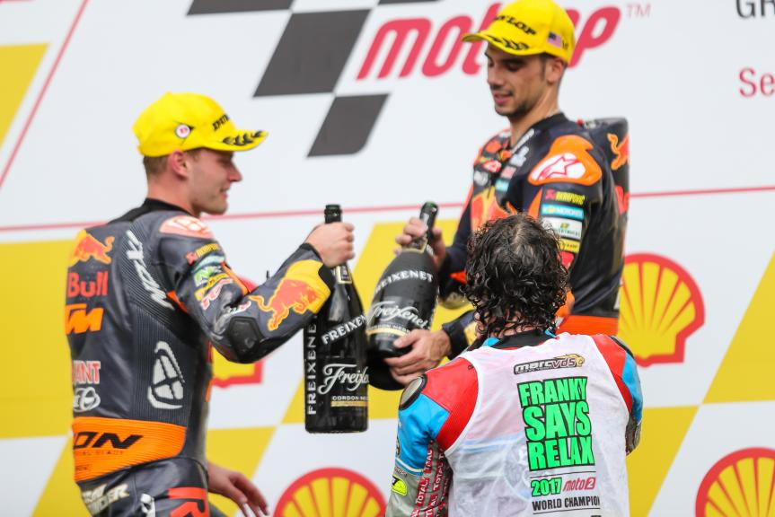 Miguel Oliveira, Brad Binder, Franco Morbidelli, Shell Malaysia Motorcycle Grand Prix