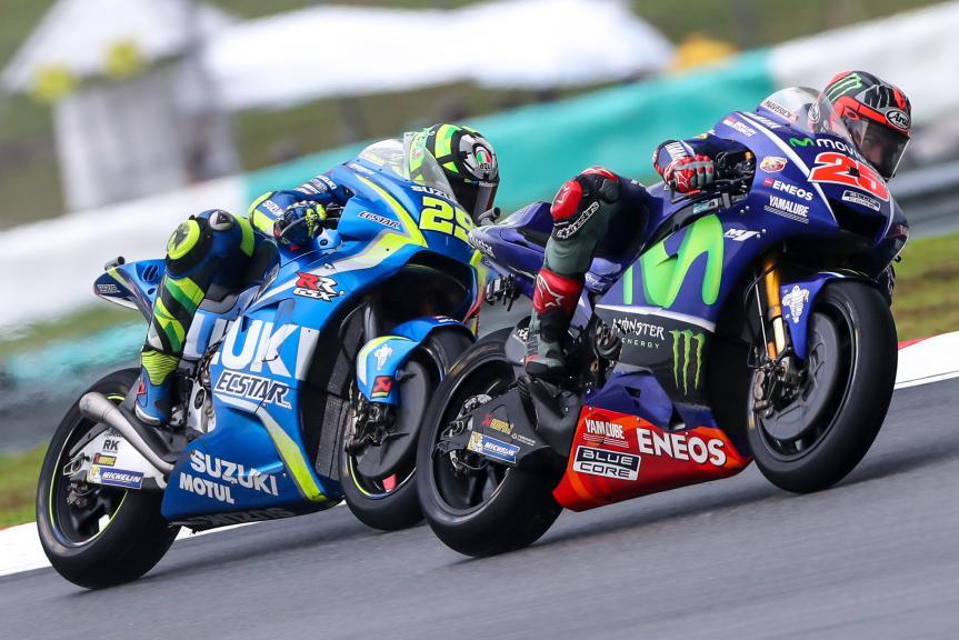 Maverick Viñales, Movistar Yamaha MotoGP, Andrea Iannone, Team Suzuki Ecstar, Shell Malaysia Motorcycle Grand Prix