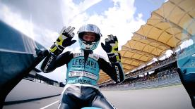 Joan Mir becomes the first winner from pole position in over a year in the lightweight class, ahead of Martin and Bastianini