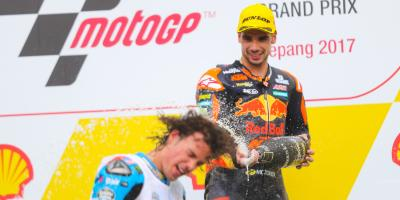 Oliveira unstoppable as Morbidelli celebrates in style