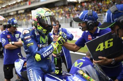 Yamaha si perde sul bagnato di Sepang
