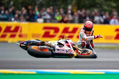 Marquez' 2017 crash record: down 25 times and not out