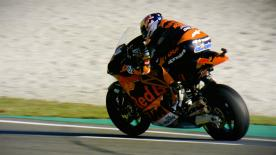 The Portuguese placed his KTM at the top of the timesheet on Friday. Bagnaia and Binder completed the Top 3
