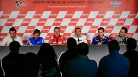 Full press conference from Valencia that saw MotoGP™ team managers give their views on a host of topics