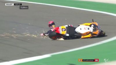 Another crash for @marcmarquez93! But he's still on course for