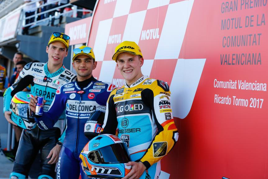 Jorge Martin, Joan Mir, Gabriel Rodrigo, Gran Premio Motul de la Comunitat Valenciana