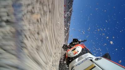 Watch Lorenzo's frightening crash in Q2