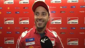 El piloto del Ducati Team forzó y se fue al suelo al final de carrera