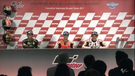 Los primeros clasificados de MotoGP™ hablan con los medios sobre su actuación en el Circuito Ricardo Tormo.