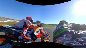 Disfruta desde dentro de la arrancada del francés en el Gran Premio Motul de la Comunitat Valenciana