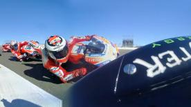 Enjoy the MotoGP™ race start from the point of view of various riders.
