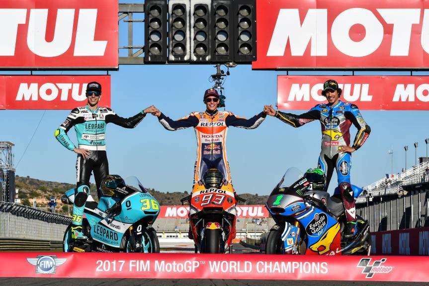 Marc Marquez, Franco Morbidelli, Joan Mir, Gran Premio Motul de la Comunitat Valenciana