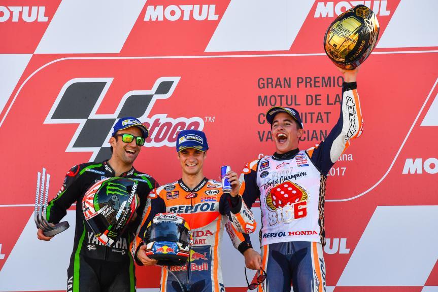 Dani Pedrosa, Marc Marquez, Johann Zarco, Gran Premio Motul de la Comunitat Valenciana