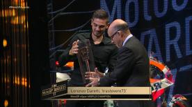 The first ever MotoGP™ eSport Champion was on stage at the FIM MotoGP™ Awards ceremony to receive his trophy