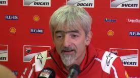 El Director General de Ducati Corse, Luigi Dall'Igna, responde a las preguntas de los medios