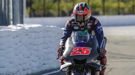 Maverick Viñales was on top after the first day of action at the Circuit Ricardo Tormo, on-board a 'hybrid' Movistar Yamaha M1